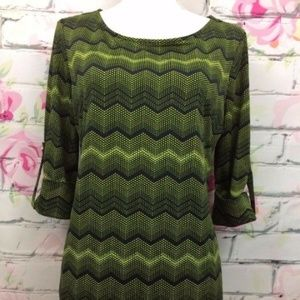 New Directions Blouse Size M Green